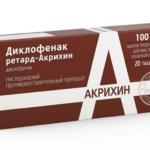 Диклофенак ретард применение