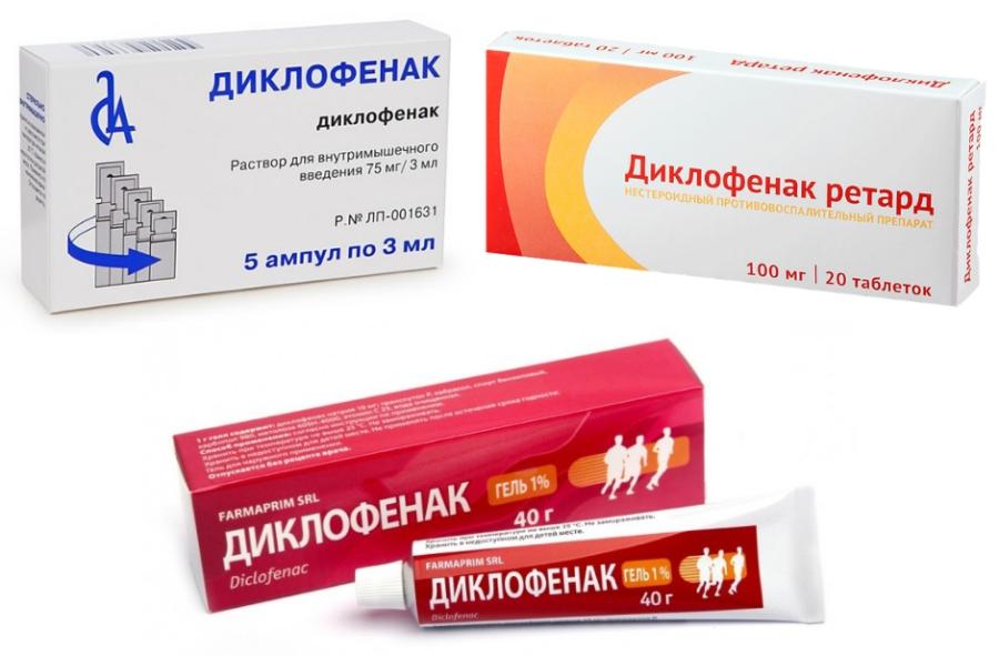 Диклофенак применение