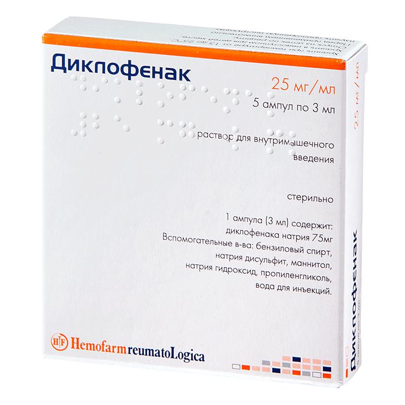 Диклофенак инъекции применение в гинекологии