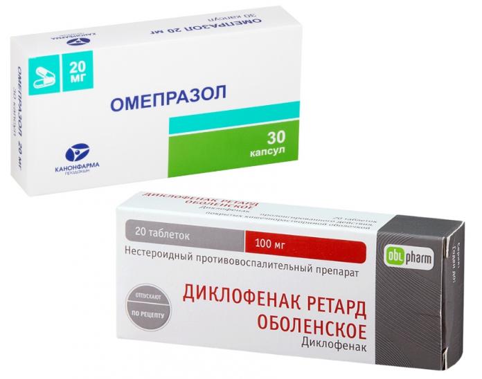 диклофенак и омепразол как применять